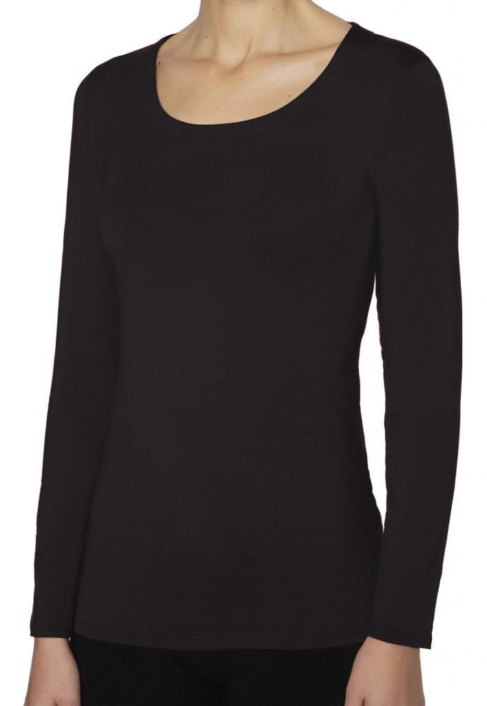 Janira Camiseta Spa Modal M/L en color negro
