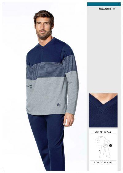 Comprar online Pijama hombre algodón afelpado Guasch GC791 564