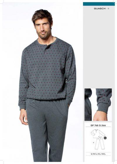Comprar online Pijama caballero con puños Guasch GP760 566