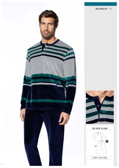Comprar online Pijama de hombre de terciopelo Guasch GS290 560