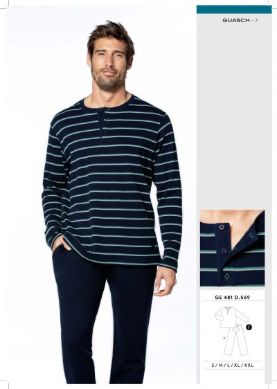 Comprar online Pijama hombre algodón Guasch GS481 569