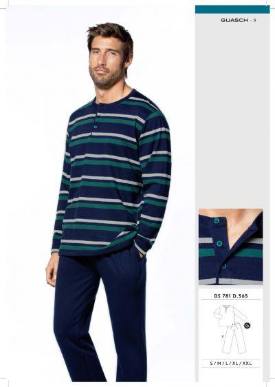 Comprar online Pijama Hombre Algodón con Felpa Guasch GS781 565
