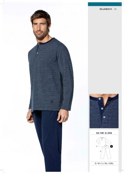 Comprar online Pijama de caballero marca Guasch GS981 558