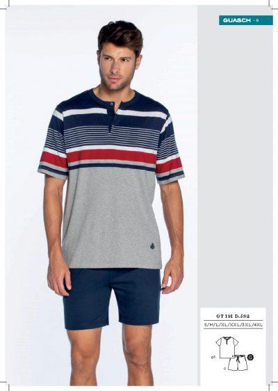 Comprar online Pijama corto en algodón de hombre Guasch GT191 582