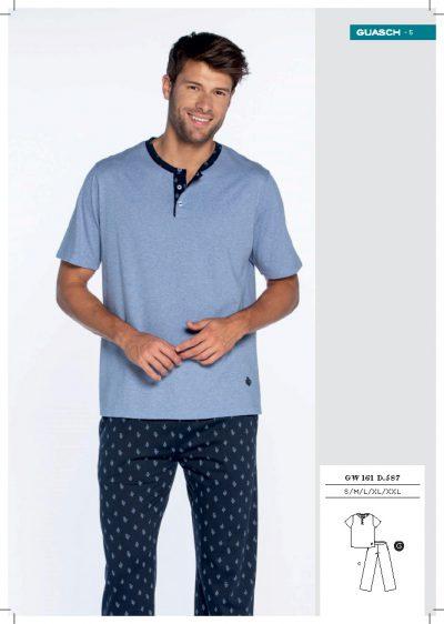Comprar Pijama hombre manga corta pantalón largo Guasch GW161 587
