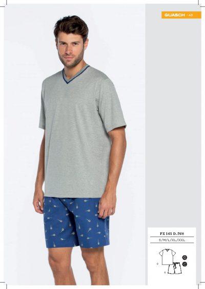 Comprar online Pijama corto de verano de hombre Guasch PX161 768