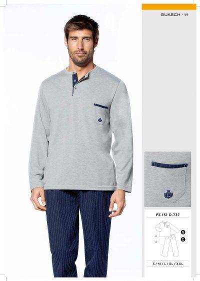 Comprar online Pijama hombre pantalón de tela Guasch PZ151 737