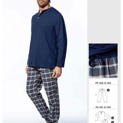Comprar online Pijama de hombre de Punto Guasch PZ421 745