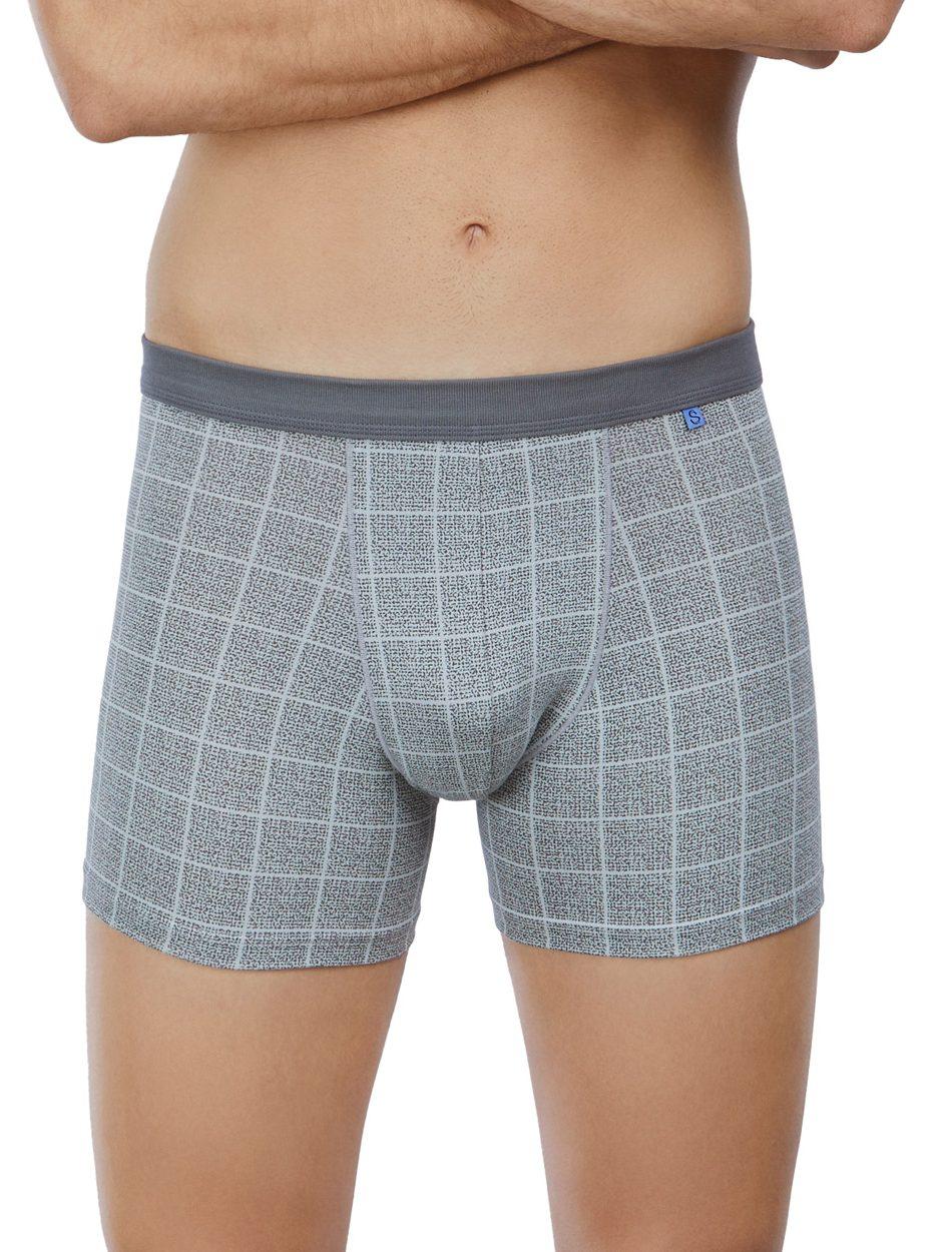 Comprar online calzoncillo boxer marca Set 18272 para hombre estampado a cuadros en algodón