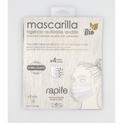 Mascarillas antialérgicas y antibacterianas Lyocell Bio Rapife comprar online