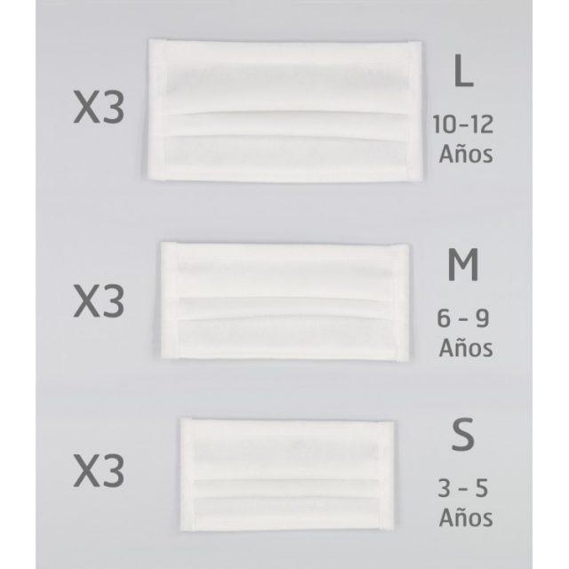 Comprar online mascarillas lavables reutilizables infantiles Rapife Tallas disponibles S M L