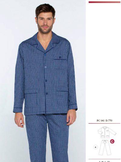 Pijama Guasch de Tela de Hombre BS141 D770 - Comprar online textil hombre Guasch