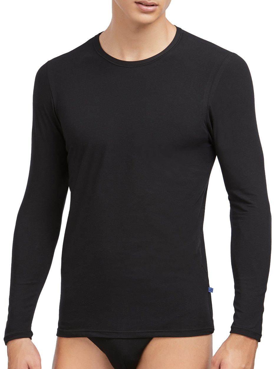 Camiseta Hombre Marca Set 57313 de manga larga algodón