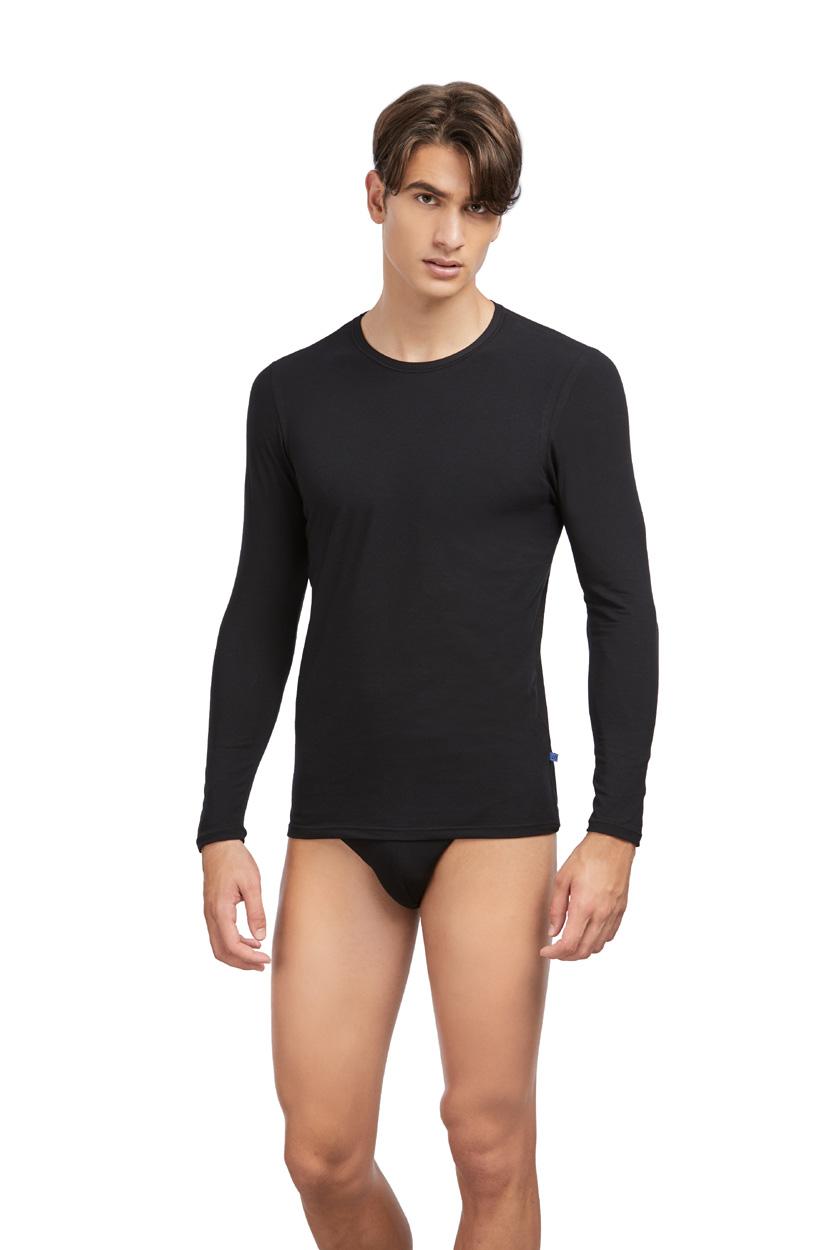 Camiseta Hombre Marca Set 57313 de manga larga algodón - AVET SET