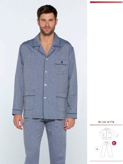 Pijama tela de hombre Guasch PC151 D.774 con bolsillos comprar online