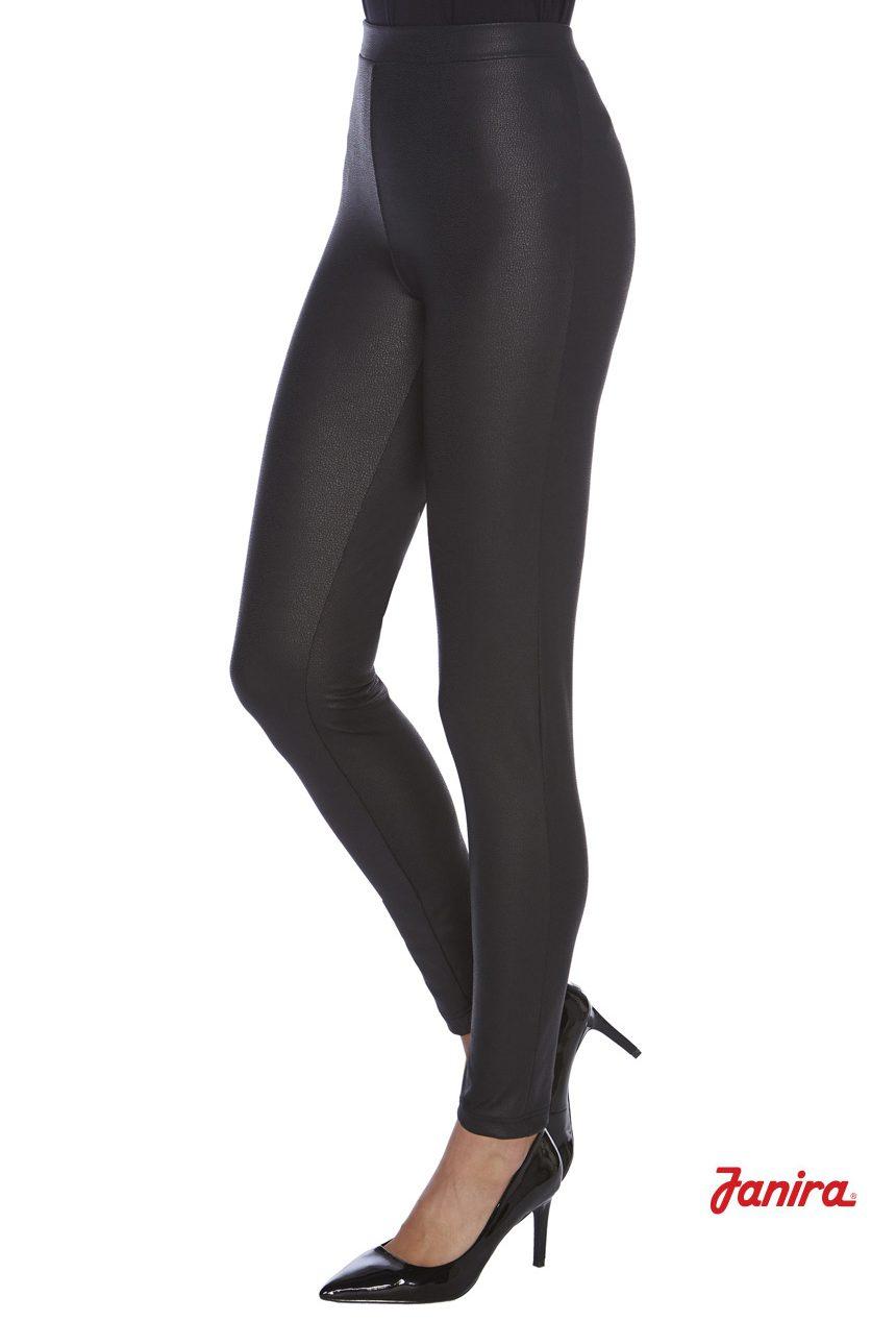 Legging JANIRA LIZARD-SKIN efecto piel - Comprar online textura suave en negro