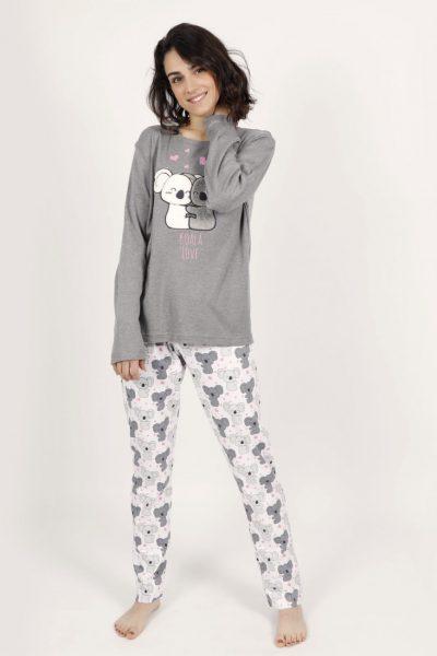 Pijama Mujer Admas LOVE KOALA punto interlock afelpado