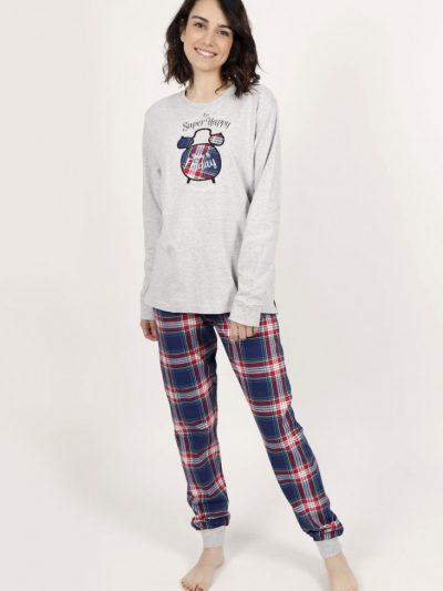 Pijama mujer ADMAS be super happy pantalón con puños