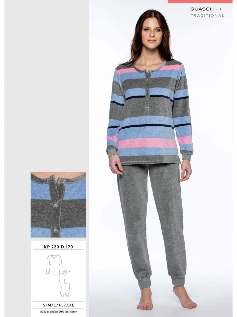 Pijama Guasch Mujer KP220 D.170 Cuello Tapeta y Puños comprar online