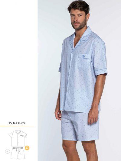 Pijama Hombre Verano Guasch PS161 D772 Tela Corto Online - Comprar en BIGARTE Tienda Online